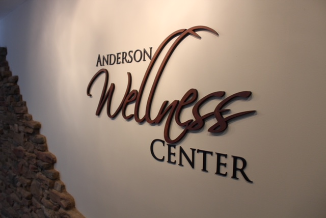the wellness center logo wall